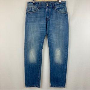 Mavi Jeans Low-Rise Easy Straight Leg. Size: 33/32